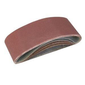 o5 Piece Sanding Belts 40, 60, 2 X 80, 120G SANDING BELTS 75 X 457MM