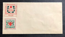 US Cover with uncanceled 1908 & 1909 Christmas Seals