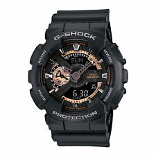 Casio Men's  G-Shock GA110RG-1A Ana-Digi X-Large Rose Gold Black Watch