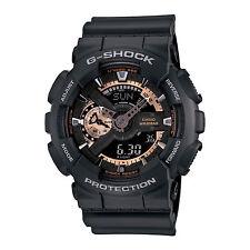 Casio Men's  G-Shock GA110RG-1A Ana-Digi X-Large Rose Gold Black Watch