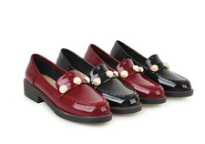 Women British College Style Slip On Lazy Pumps Shoes Comfort Driving Boat Shoes
