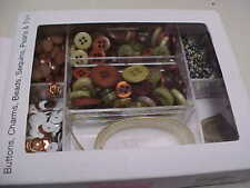 Buttons Galore Craft Embellishment Kits, Buttons,Sequins,Charm,Pea rls,Trim,Beads