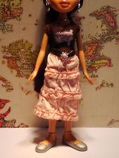 "Bratz Outfit Only – ""Rodeo Cloe Brown T, Peach Skirt, Silver Flats� (Lot U6)"