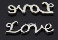 20pc Retro Tibetan Silver love Charm Beads Pendant accessories  PL583