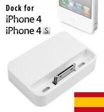 DOCK BASE DE CARGA IPHONE 4 4S 3G 3GS 3 G GS SOPORTE SYNC CARGADOR DATOS HOLDER