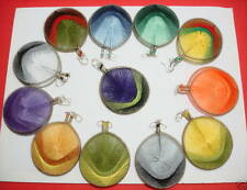 Wholesale of 12 pairs Round Thread earring Assorted colors 212A