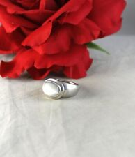 Sterling Silver Espo Sig White Cabochon 13 g Ring Size 8 Cat Rescue