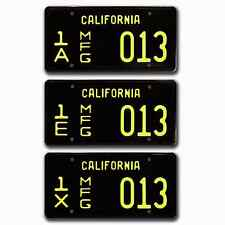 Carroll Shelby Cobra Mustang /  MFG  / *STAMPED* Replica License Plate Combo