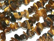 s103 Tiger Eye Gem Chips Loose Beads, 4-8mm, 36""