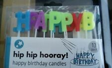 Birthday Candles 13 Pack Party Cake HAPPY BIRTHDAY Multi Coloured