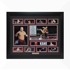 Kane WWE Signed & Framed Memorabilia - Black/Red Limited Edition