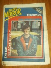 RECORD MIRROR OCTOBER 6 1979 THE QUADS UNDERTONES JAME BLUE OYSTER CULT JAM MODS