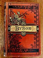 Lord Byron, Poetical Works, 1880's, Nice Binding, Illus. 19th Century