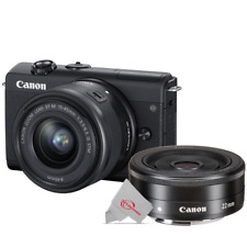 Canon EOS M200 Mirrorless Digital Camera Black with 15-45mm + 22mm f2 STM Lens
