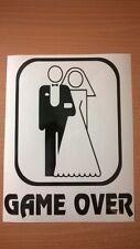 game over bride groom just married wedding car vinyl sticker wall art stag hen