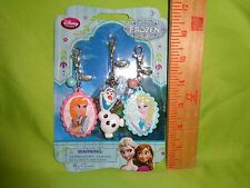 Disney Store Frozen Keychain Clips Bag Charms Zipper Pulls Anna Elsa Olaf New