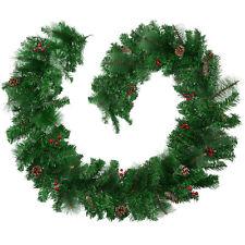 Weihnachtsgirlande Tannengirlande Girlande Dekoration Beeren Innen Außen 2,7 m