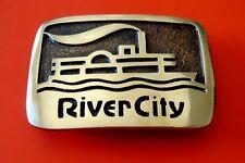 604ms vintage fleuve ville DIABOLO - laiton boucle ceinture