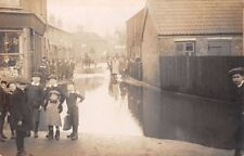 Bucks  - CHALVEY, Slough, Darvills Lane flooded in 1906 -  Real Photo.