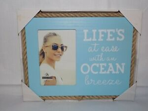 4x6 Picture Frame Life's At Ease With An Ocean Breeze by Malden International