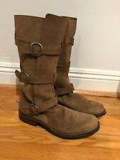 FIORENTINI+BAKER ETERNITY 3 BELT BUCKLE CELEB BROWN LEATHER HIPPIE BOOTS 40