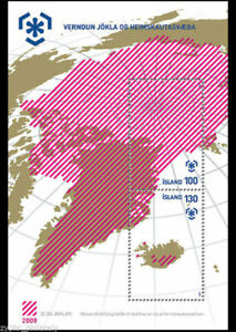 "Iceland - ""PRESERVE THE POLAR REGIONS & GLACIERS"" Unique Thermochromic MS 2009"