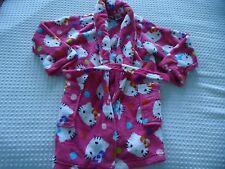Girl's size 6-6X Hello Kitty Pink & Kitty Pattern Soft Bath Robe