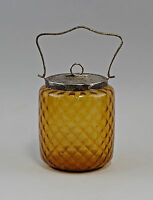Biscuit tin Art nouveau from honey brown Glas 99835081