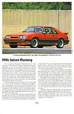 1986 Ford Saleen Mustang Article - Must See !!