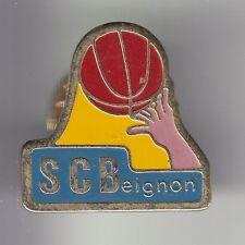 RARE PINS PIN'S .. SPORT BASKET BALL CLUB BALLON BRETAGNE SCB BEIGNON 56 ~C4