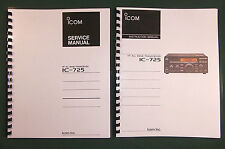 Icom IC-725 Instruction & Service Manuals: Card Stock covers & 28lb Paper!