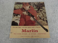 VINTAGE ORIGINAL MARLIN GUN 1962 CATALOG