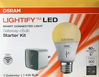 Sylvania OSRAM Lightify LED Smart Connected Light Gateway Starter Kit w/A19 LED