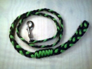 Paracord XL Dog Lead Flat Braided Hand made You can pick the 3 colors (4 foot)