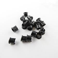 2x schwarze Ledfassungen für 5mm Leds, Led Fassung Montageringe Kunststoff Ring