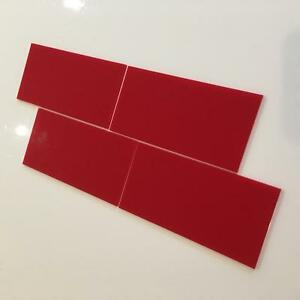 """Red Gloss Acrylic Rectangle Crafting Mosaic/Wall Tiles, 1cm-25cm, 1""""-10"""""""