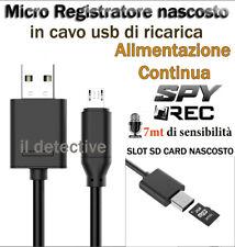 MICRO REGISTRATORE SPIA AUDIO VOCALE VOICE RECORDER AMBIENTALE USB