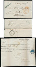 GB 1842 OFFICIAL PAID SIGNATURE HANDSTAMP in GREEN OHMS PART ENTIRE