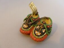 Enesco Friends of the Feather Miniature Small Pink Moccasins Figurine