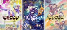 Little Witch Academia Japanese Comic 1, 2, 3 vol. Set Kadokawa ACE TRIGGER