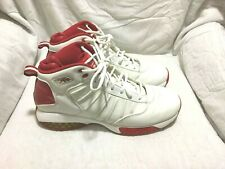 REEBOK PERFORMANCE BASKETBALL SHOES - WHITE RED - ( SIZE 12 ) MEN`S