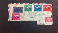 Germany Air Mail VF Used Tied To Partial  Cover Sc#C61-C64  Catalog Value $30.75
