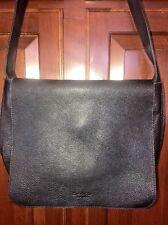Kenneth Cole Black Leather Organizer  Crossbody Handbag MESSENGER BAG unisex