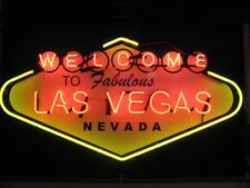 "New Welcome To Las Vegas Bar Beer Light Lamp Neon Sign 24""x20"""