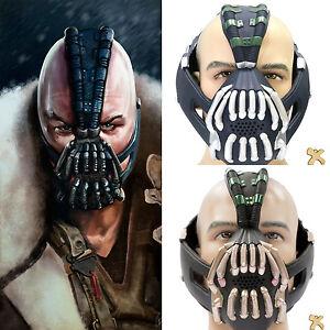 New Bane Mask Cosplay Costume Silver Bronze Latex Adult Mask Helmet Props