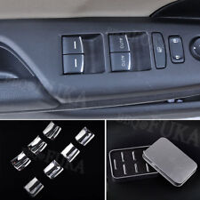 Inner Door Window Lift Button Switch Sequin Trim For Honda Civic 10th 2016-2018