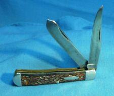 Vintage Western Boulder , Colo  USA  691 Jigged Delrin Trapper Pocket  Knife