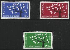 Cyprus Scott #219-21, Singles 1963 Complete Set FVF MNH