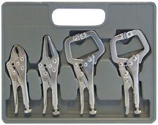 "4PC Mini Adjustable Locking Mole Vice Grip Pliers & 5"" Welding Craft C Clamp Set"