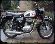Bsa A65 Star 01 A4 Metal Sign Motorbike Vintage Aged